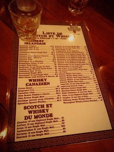 Whisky WhiskyMenu