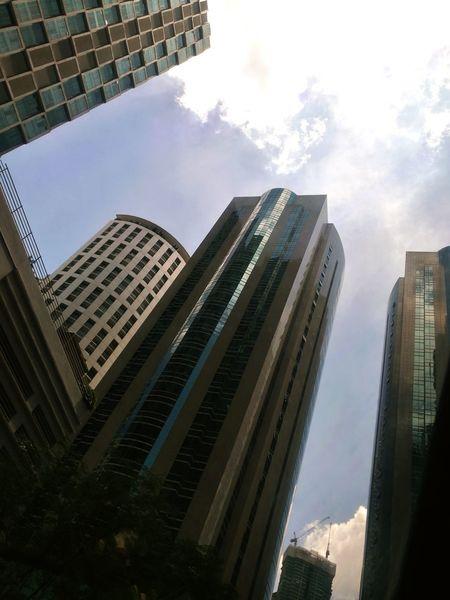 Skyscraper Urban Skyline Cityscape Building Exterior City Life Tower Kuala Lumpur Malaysia Built Structure Outdoors Blue Highrise Building