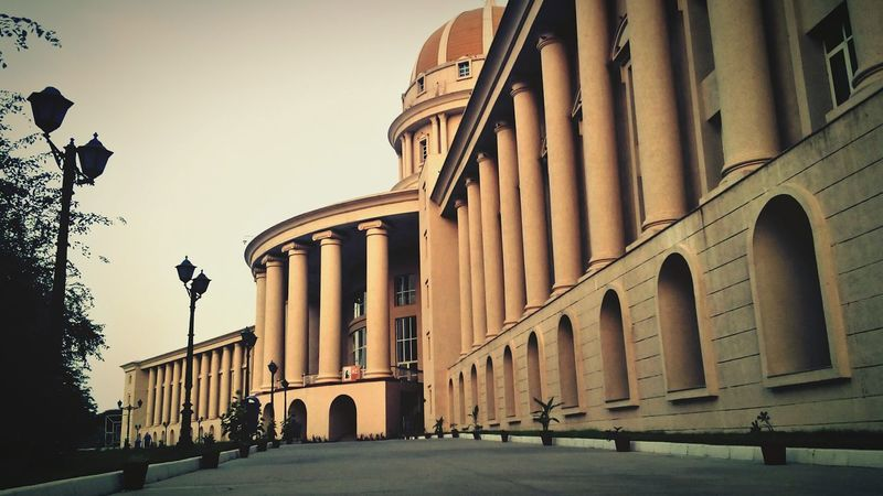 Manipal University Jaipur Architecture Architectural Column Travel Destinations Building Exterior Sky Day PhonePhotography