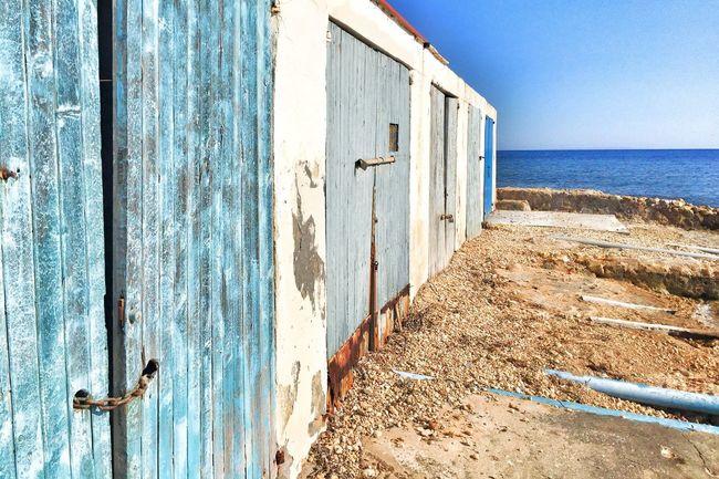 Beach Beach Boathouses Rustic Blue Doors Old Summer Idyllic Doors Sea Sunshine Holiday
