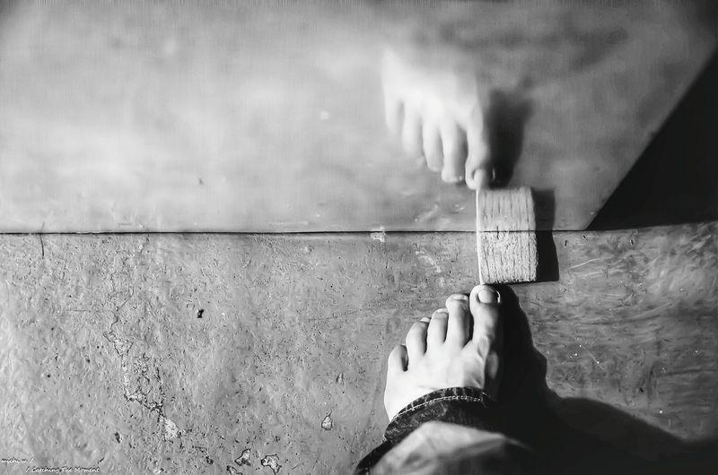 Feet Touching Plank