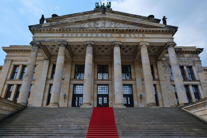 Architectural Column Architectural Feature Architecture Art Built Structure Capital Cities  Column Historic History Konzerthaus Berlin Low Angle View Ornate