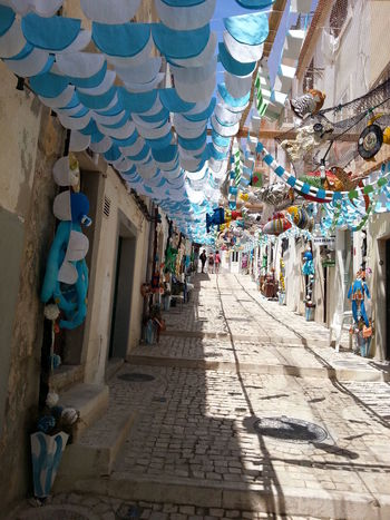 Street Art Decorated Street For The Feast Sesimbra Portugal The Street Photographer - 2016 EyeEm Awards Holydays Battle Of The Cities Tourism Travel Destinations