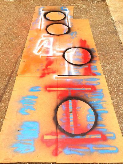 Accidental Art Spraypaint Painting Work Study Summer Student Weld Shop Fab Shop