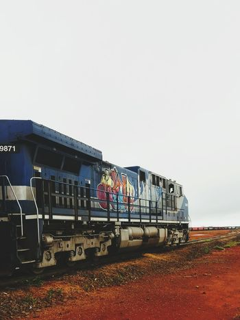 Train - Vehicle Rail Transportation Outdoors Steam Train Day Sky Nature Metal Industry No People Rondonopolis Ferrovia Trainphotography Locomotive Locomotive Engine