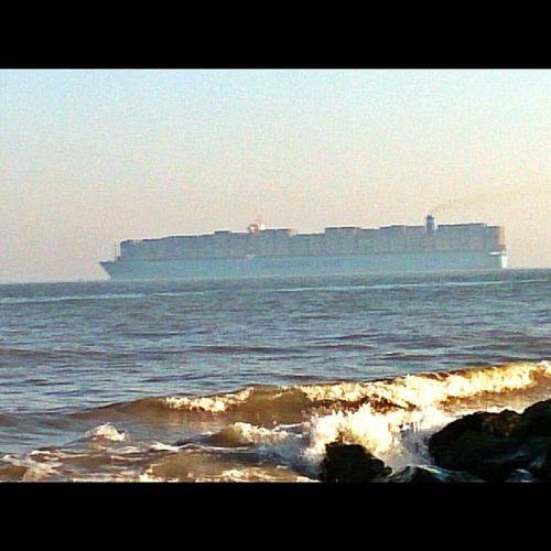 Watching the ships sail away.