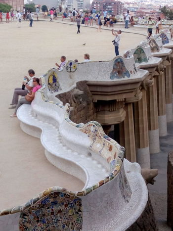 Viaggiando Barcelona, Spain Park Güell, Barcelona Taking Photos Architettura Gaudi #barcelona Vocations Hola Mundo ✌ Hola! HTC_photography Nofilter#noedit Smartphone Photography Vacation Time Vacanze Eye4photography  Hi! Multicolor