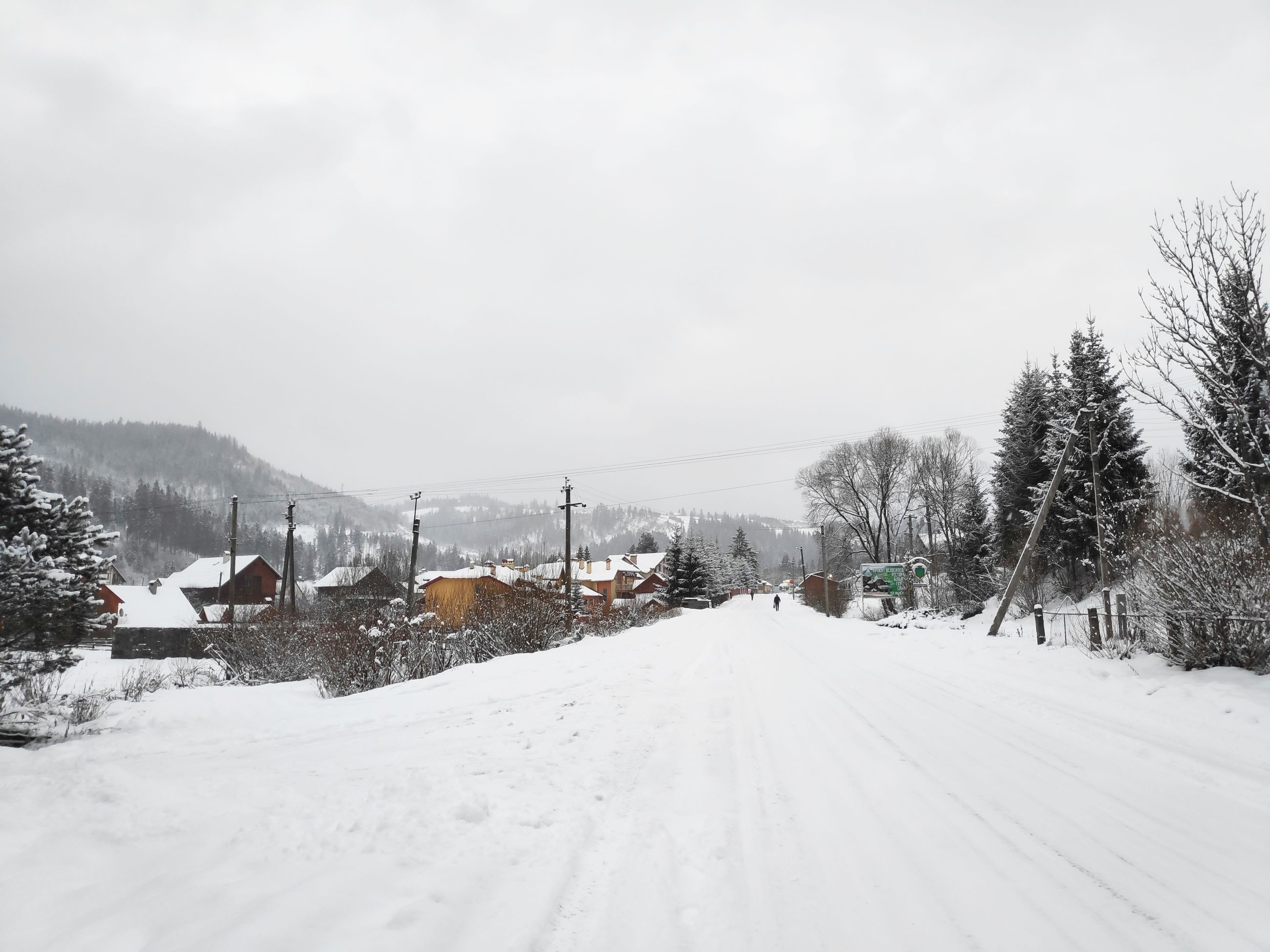 snow, winter, cold temperature, sky, tree, transportation, nature, plant, scenics - nature, beauty in nature, day, white color, environment, no people, covering, road, cloud - sky, mode of transportation, tranquil scene, outdoors, snowcapped mountain