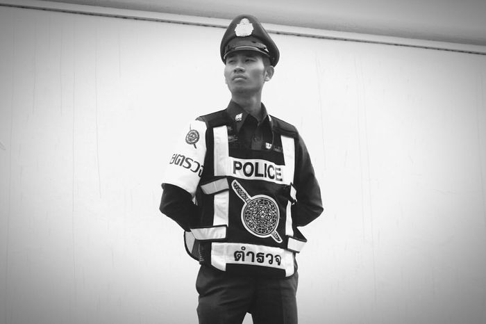 Portrait Standing One Person Front View Confidence  People Gentlemanstyle Police Officer Emotional Photography City