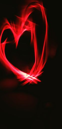 Heart Shape Glow Stick HUAWEI Photo Award: After Dark Black Background Technology Backgrounds Red Curve Abstract Smoke - Physical Structure Shape Love Close-up Valentine's Day - Holiday