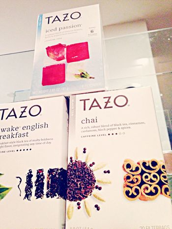 Tea Time Tazo Tea Taking Photos