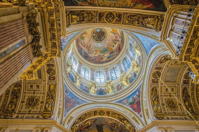 Architecture Traveling Baltic Saint Petersburg Russia Europe Church Orthodox Saint Isaac's Cathedral