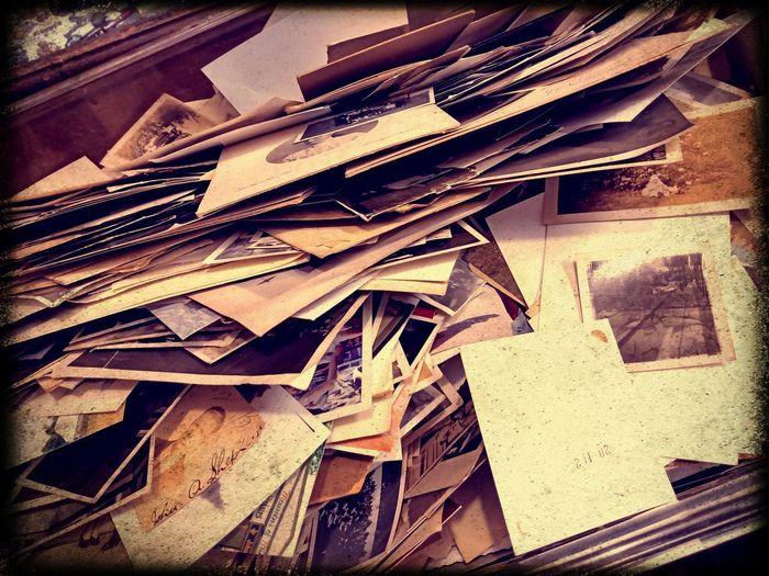 Full frame shot of old abandoned stack