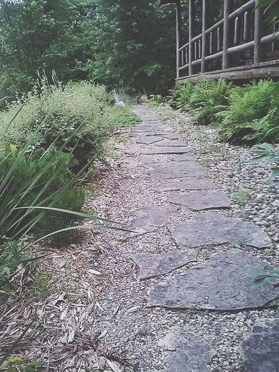 Pathway Log Cabin Home Sweet Home