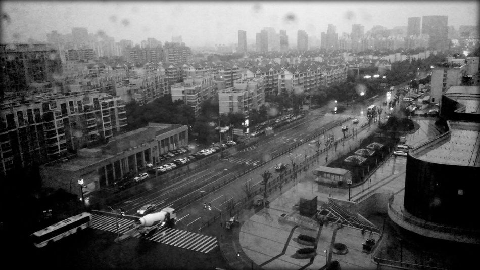 Out Of The Window City Life Taking Photos Hi! On The Road Hello World B&w Rain VSCO Cam