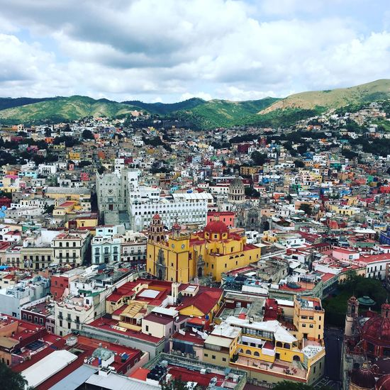 Guanajuto panoramica City Architecture Built Structure Town First Eyeem Photo Postcode Postcards