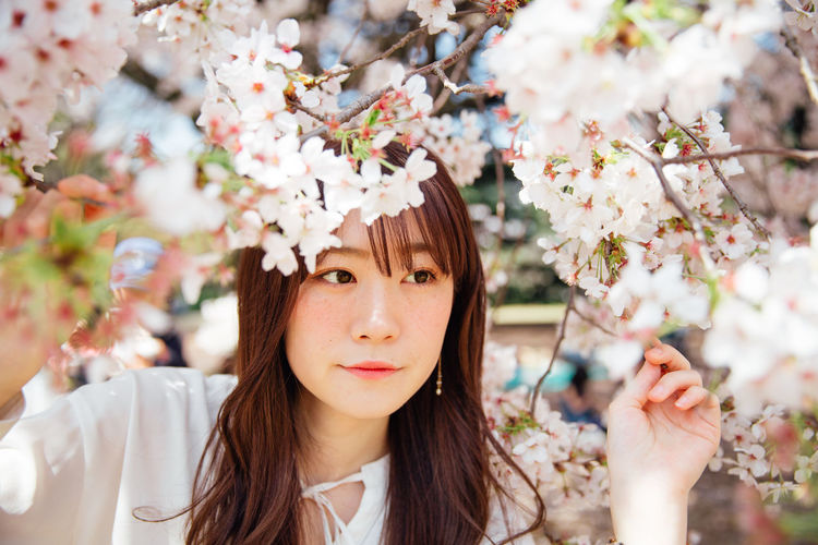 Japanese stranger photography plan with cherry blossom Japan Japanese  Japanese Culture Sakura Tokyo Beauty Beauty In Nature Cherry Blossom Flower Nature Outdoors Portrait Young Adult The Portraitist - 2018 EyeEm Awards EyeEmNewHere
