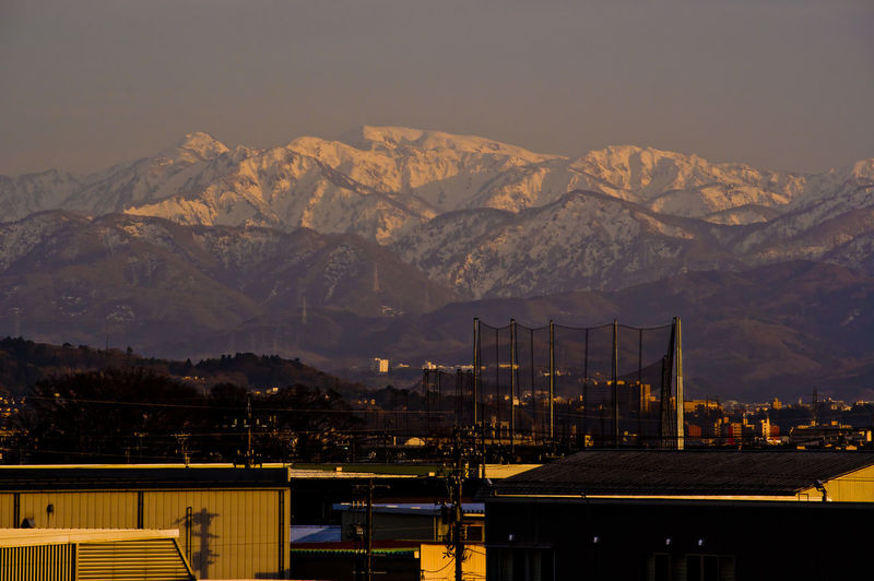 Japanese alps evening view