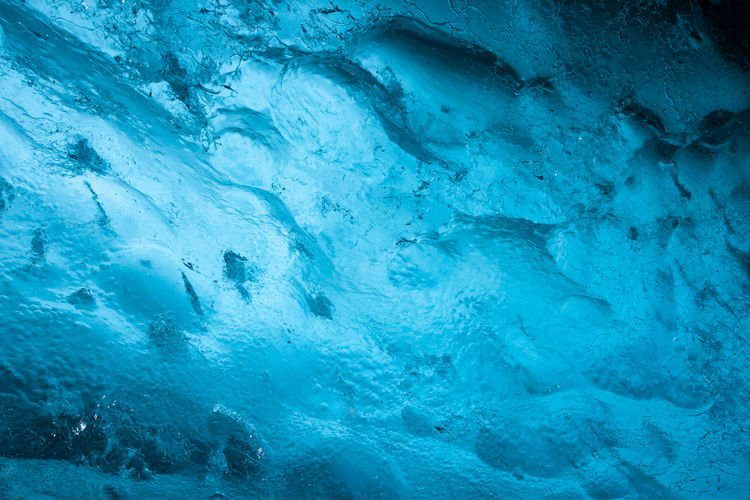 Full frame shot of frozen water