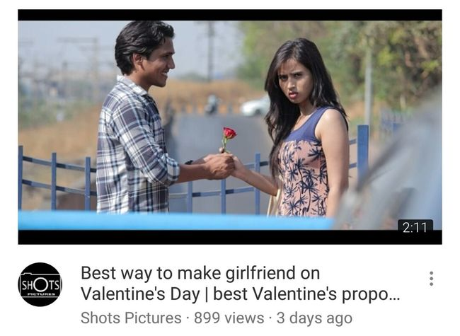 Best  Way Make Girlfriend On Valetines Day Watch Video Couple Couple - Relationship Girlfriend & Boyfriend Love ♥ Lovestory🎶 Best Proposal Youtube Awesome Indian Culture  Indian Love Storytelling watch best way to make girlfried on valetines day..only on our youtube channel Shotspictures