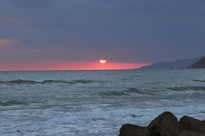 Tramonto nel Cilento Sunset Sea Athmosphere Italia Italy Cilento Pisciotta Waves Colour Of Life