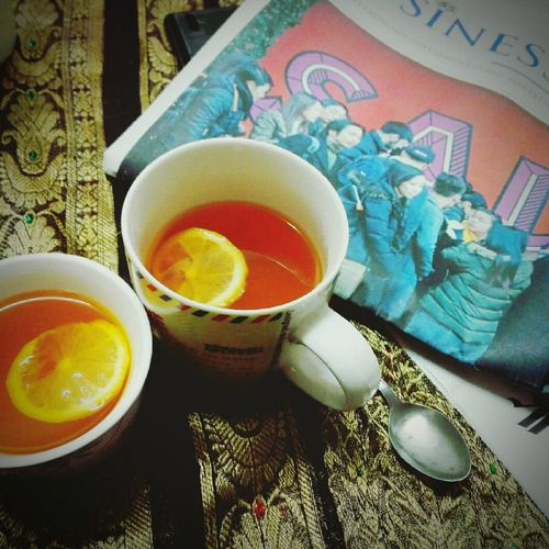 ! Tea - Hot Drink Food And Drink Healthy Eating Drink High Angle View Indoors  No People Close-up Day Freshness Cold&hot Bored Red Lemon EyeEmNewHere EyeEm Best Edits