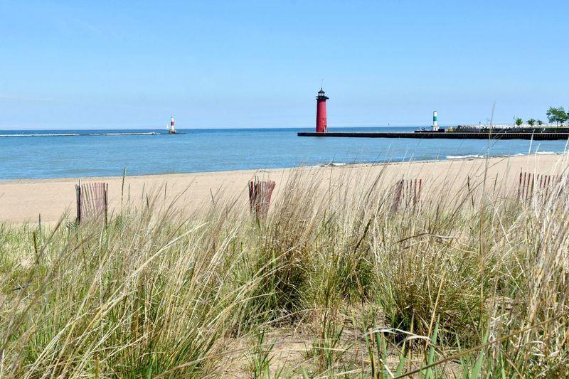 Dunes Kenosha  Kenosha Lighthouse Lighthouse Lighthouses North Pierhead Light Beach Built Structure Lighthouses Of Lake Michigan Outdoors Red Lighthouse Tower
