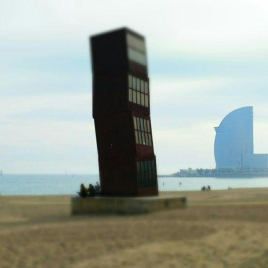 Dec 2014 Barceloneta Barcelona Espagne SPAIN Beach Paysage Landscape Travels Voyages Cityscape
