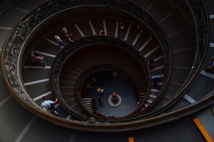 Roma Rome Italy🇮🇹 Vatican Museum Vatican Photographer Photography Stone Exploring Old Ancient Architecture Camera Streetphotography Walk The Week Of Eyeem Photooftheday Picoftheday Stairs Stairs And Steps Stairs_collection Famous Place Pivotal Ideas A Bird's Eye View