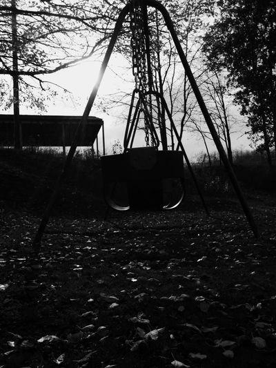Playground Swing Childhood Creative Light And Shadow