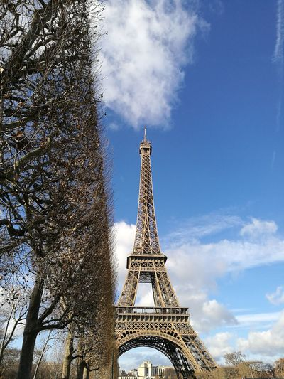 Sky Cloud - Sky Tower City Low Angle View Architecture Monument Architecture Paris City France Culture Photooftheday Picoftheday Eiffel Tower Adapted To The City