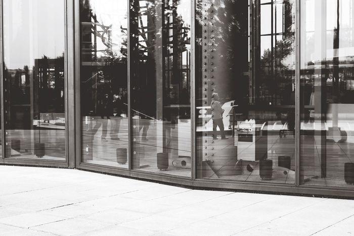 Blackandwhite Architectural Detail Reflection Wolfsburg Autostadt Glass Transparent Transparency Entrance The Architect - 2016 EyeEm Awards Monochrome_Photography The Architect - 2017 EyeEm Awards
