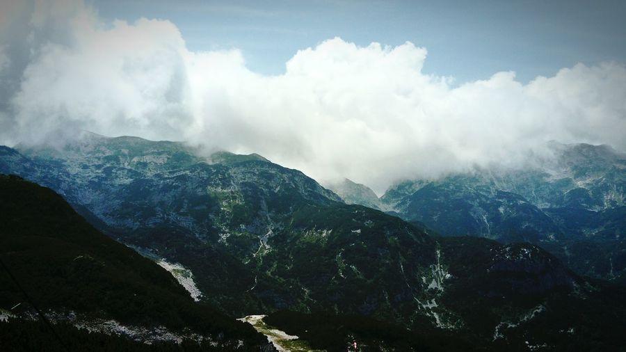 Cloud - Sky Mountain Landscape Fog Outdoors Nature No People Scenics Beauty In Nature Vacations Tree Forest Bohinj, Slovenia Alpine Alps Triglav National Park Vogel Slovenia Holidays ☀ Freshness Grass