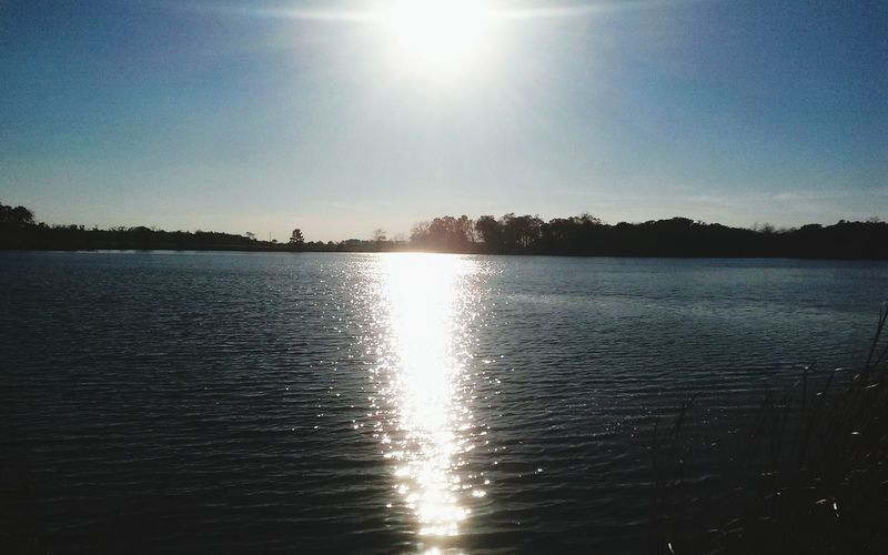 Sunsets over the river Beauty In Nature Clear Sky Day EyeEm Selects Idyllic Lake Lens Flare Nature No People Outdoors Reflection Scenics Shiny Silhouette Sky Sun Sunbeam Sunlight Sunset Tranquil Scene Tranquility Tree Water Waterfront