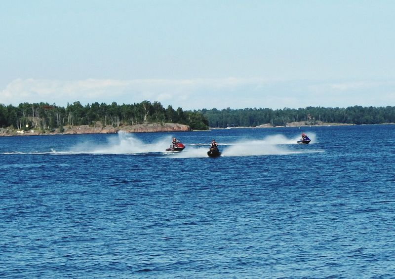 Speed Water Sport Summer Finland Helsinki Bay Jetski Jetskiing Action Photography