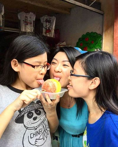 This is how I define happiness!! <3 Sisters Iceball Lebuharmenian Penangartstreet Penangfood Penang