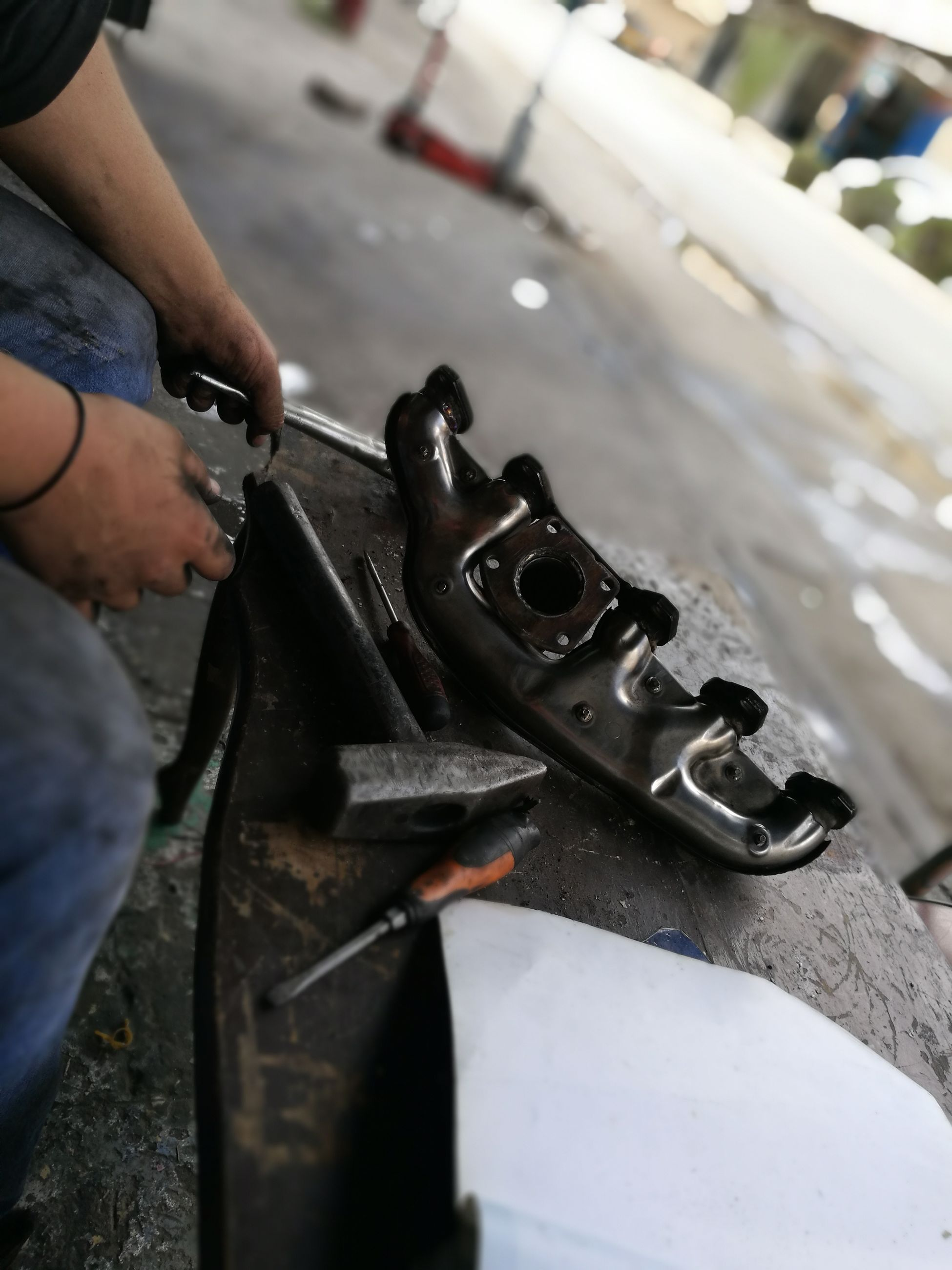 person, shoe, men, part of, selective focus, focus on foreground, casual clothing, personal perspective, day, city life
