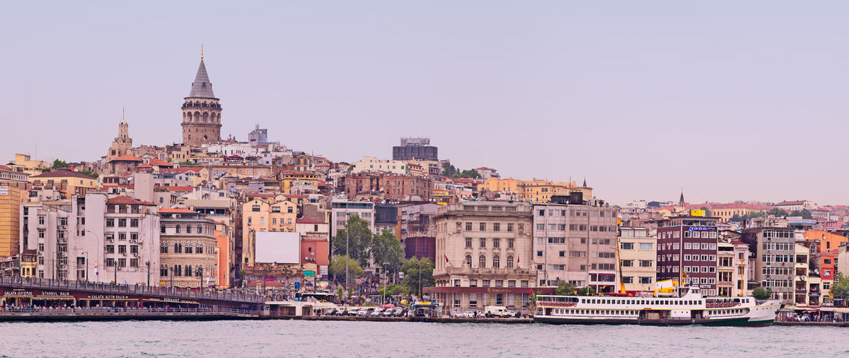 The Galata Tower & the Ferry in Karaköy. Sorry for dull weather :) Architecture Building Exterior Built Structure City City Life City View  Cityscapes Eminönü Ferry First Eyeem Photo Galata Galata Tower Galatakulesi Istanbul Karaköy Landscape Landscape_Collection Landscape_photography Outdoors Seaside The Architect - 2016 EyeEm Awards Tourism Town Travel Destinations Original Experiences