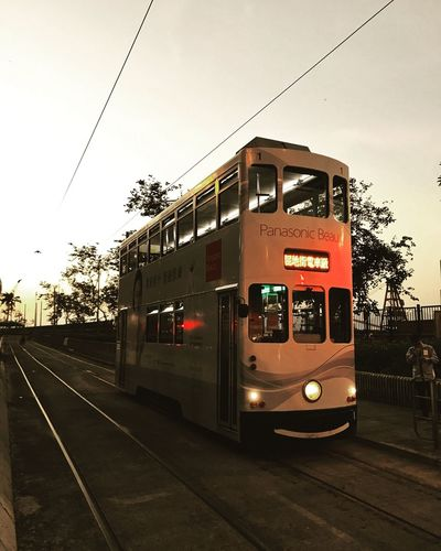 Tram Sunset