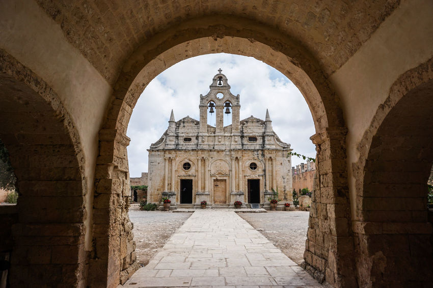 Arkadi Monastery Arch Architecture Building Building Exterior Buildings Built Structure Composition Crete Crete Greece Depth Of Field Dome Greece History Photography Religion Sky Travel Destinations