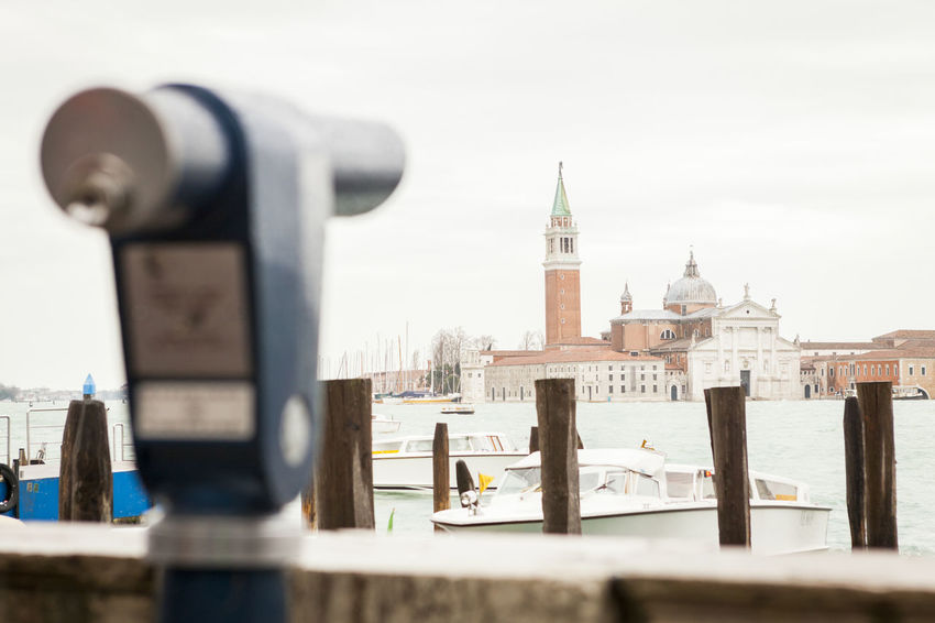 binoculars at san Marco square in venice Architecture Attraction Binoculars Building Exterior Built Structure City Cold Temperature Day Murano No People Outdoors San Marco Sky Tower Travel Destinations