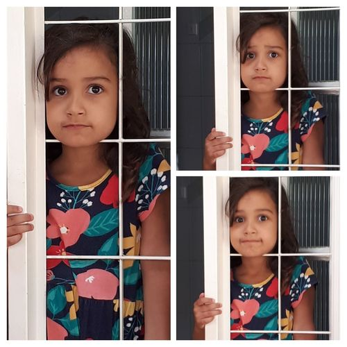 collage Collage Photocollage Girl Window Child One Person Children Only Childhood Looking Through Window EyeEmNewHere This Is Masculinity