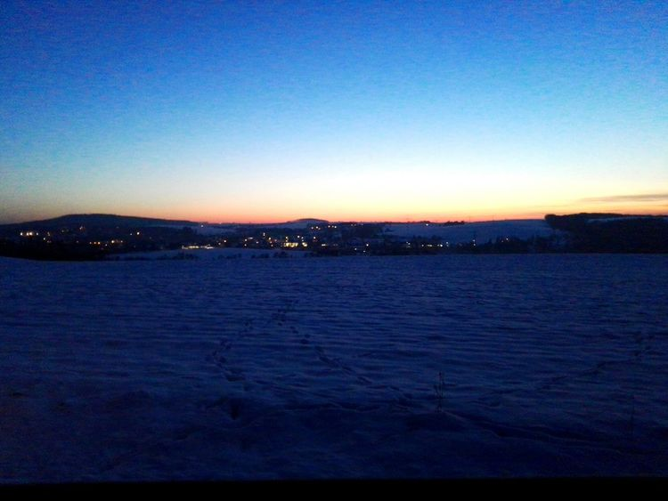 Sunset Clear Sky Nature No People Beauty In Nature Outdoors Sky Blue Scenics Evening Sunday Snow