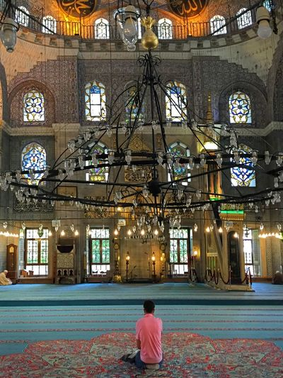 321 / 366 Arch Arches Architecture Built Structure Chandelier Columns Devotion Eminönü/ İstanbul Illuminated New Mosque Religious  Spirituality Travel Destinations Fine Art Photography Showcase July