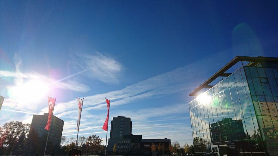 Nofilter City Sky Building Exterior Sunlight Lens Flare Architecture Sun
