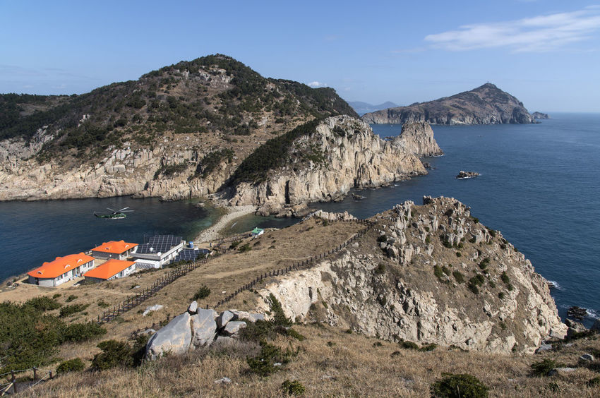 seaside view of Deungdaeseom Island (lighthouse island) by Somaemuldo in the sea of Tongyeong, Gyeongnam, South Korea. Island View  Nature Nature's Beauty Nikon D850 Scenic Tongyeong Beauty In Nature Beauty Of Nature Bright Day Cliff And Sea Close-up D850 Day Horizon Over Sea Horizon Over Water Island Mountain Nature Nautical Vessel No People Outdoor Outdoors Rock - Object Scenics Sea Sea And Cliffs Sea Cliff Sea Cliffs Seascape Sky Somaemuldo Tranquil Scene Tranquility Water