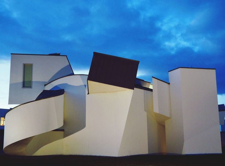 Vitra Design Museum by Frank Gehry, 1989 Vitra Campus Vitra Vitra Design Museum Frankgehry Sky Low Angle View Cloud - Sky Architecture Built Structure No People Day Building Exterior Outdoors