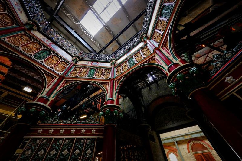 Crossness Pumping Station Architecture Built Structure Indoors  Belief Low Angle View Religion Building