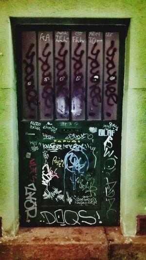 Green Door. Graffiti Green Color Green Green Door Green Doors City Life City Artphotography Day Outdoors