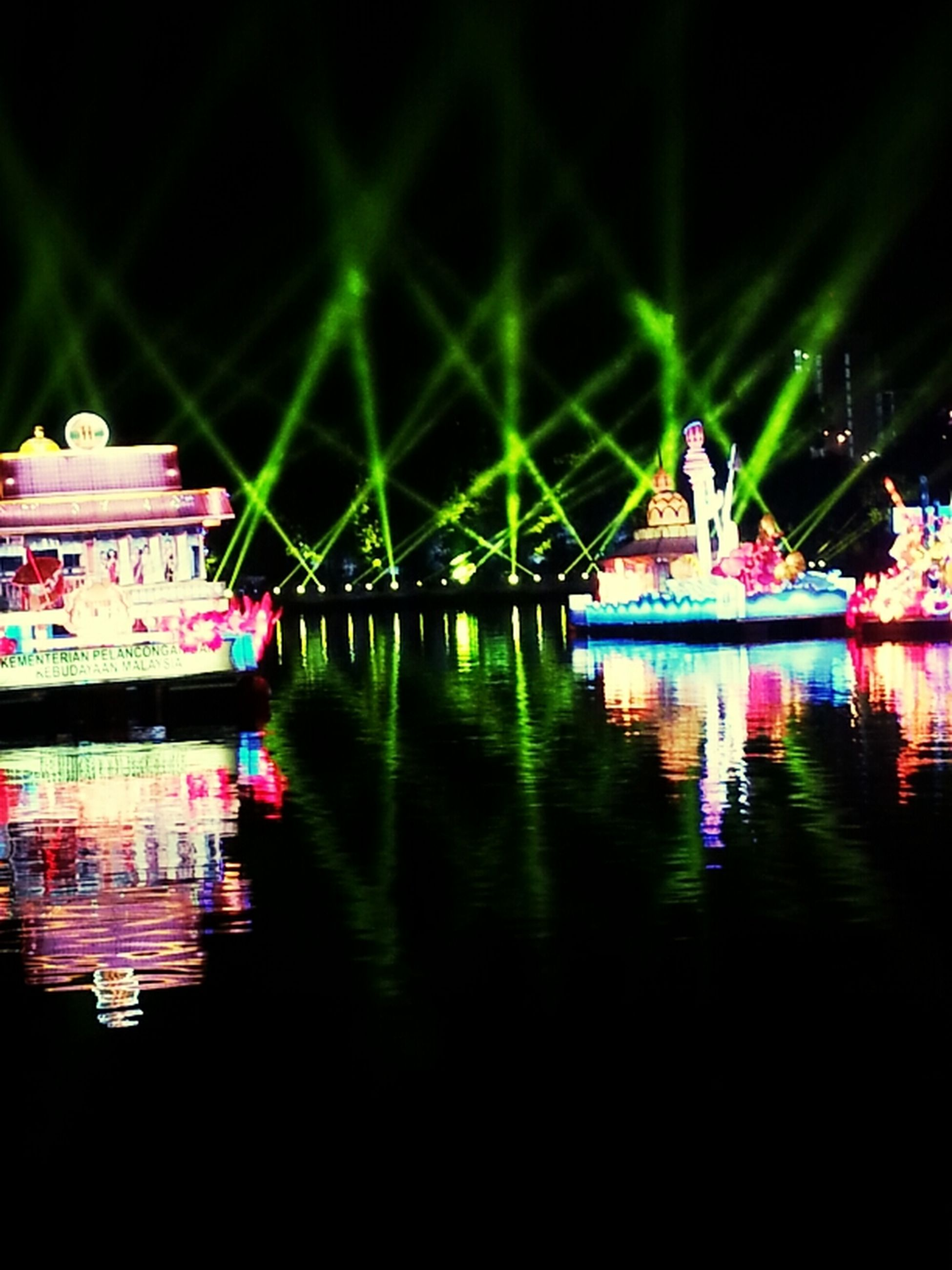 water, waterfront, nautical vessel, reflection, night, boat, transportation, illuminated, mode of transport, river, lake, moored, built structure, architecture, building exterior, outdoors, no people, nature, travel, tranquility
